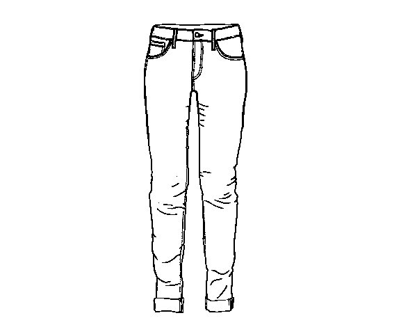 Jeans coloring #11, Download drawings