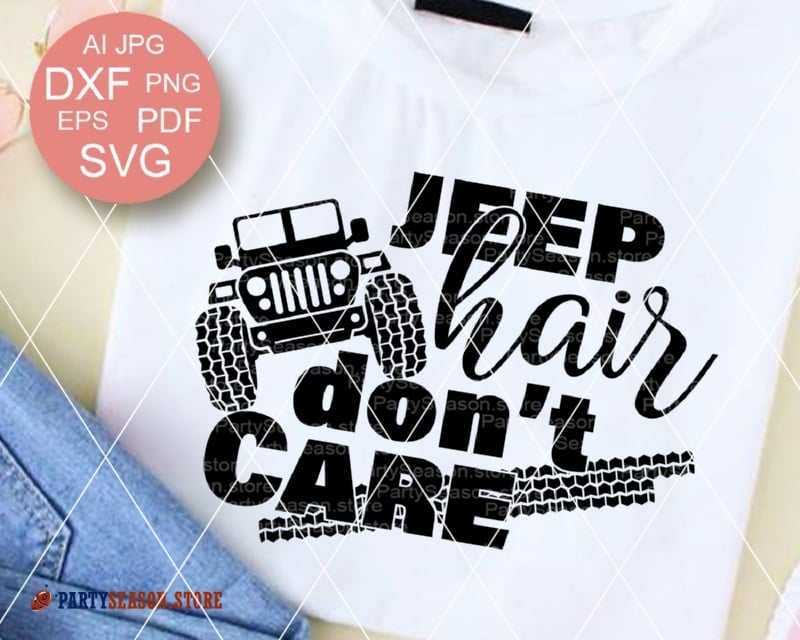 jeep hair don't care svg #583, Download drawings