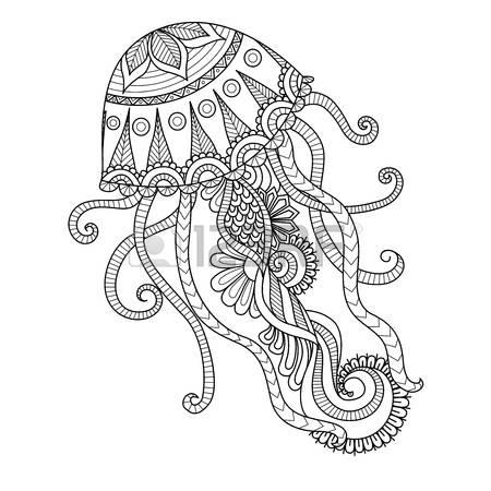 Jellies coloring #10, Download drawings