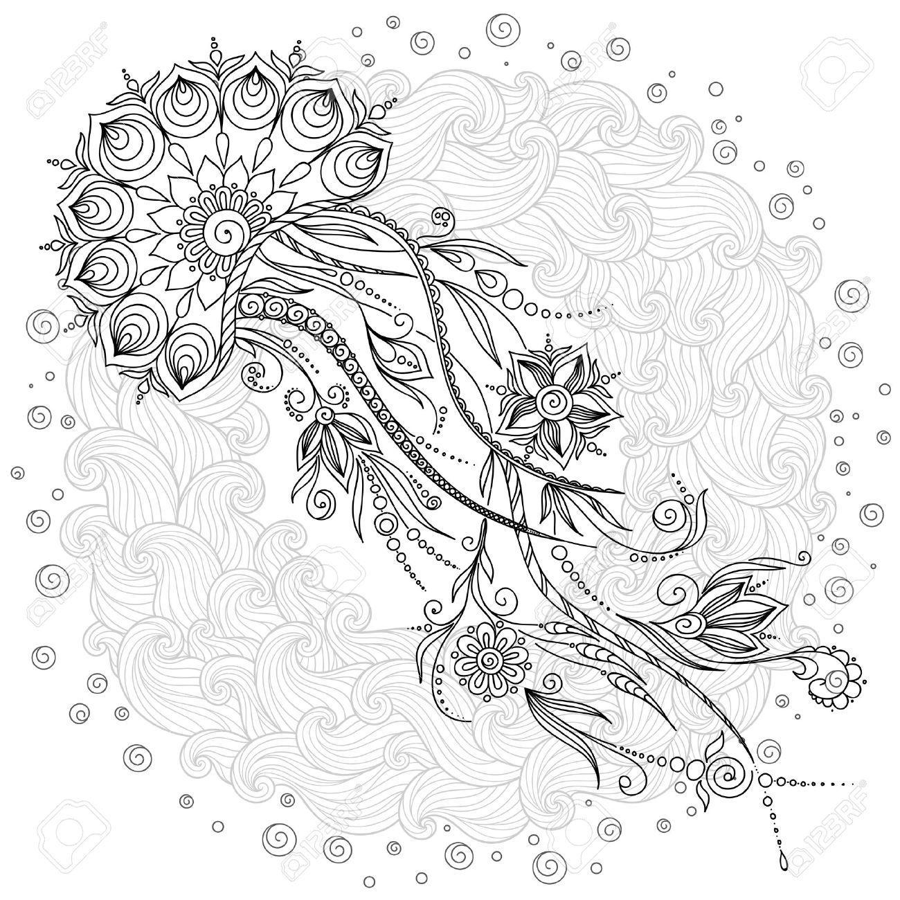 Jellies coloring #5, Download drawings