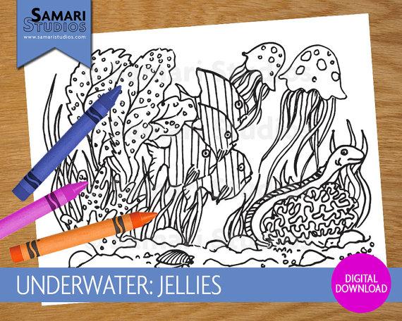 Jellies coloring #8, Download drawings