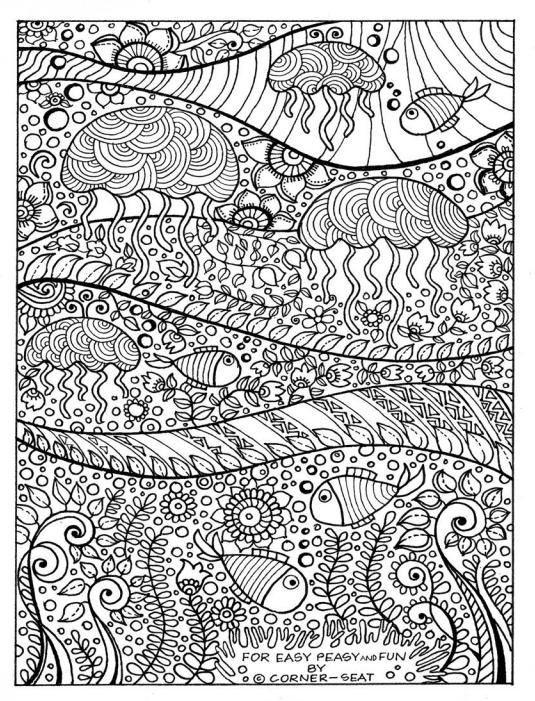 Jellies coloring #4, Download drawings