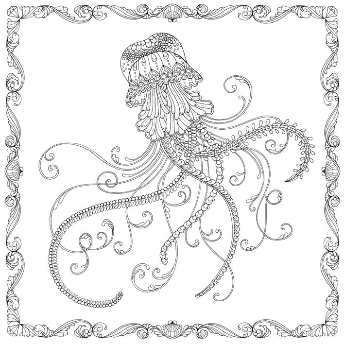 Jellies coloring #6, Download drawings