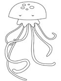 Jellyfish coloring #18, Download drawings