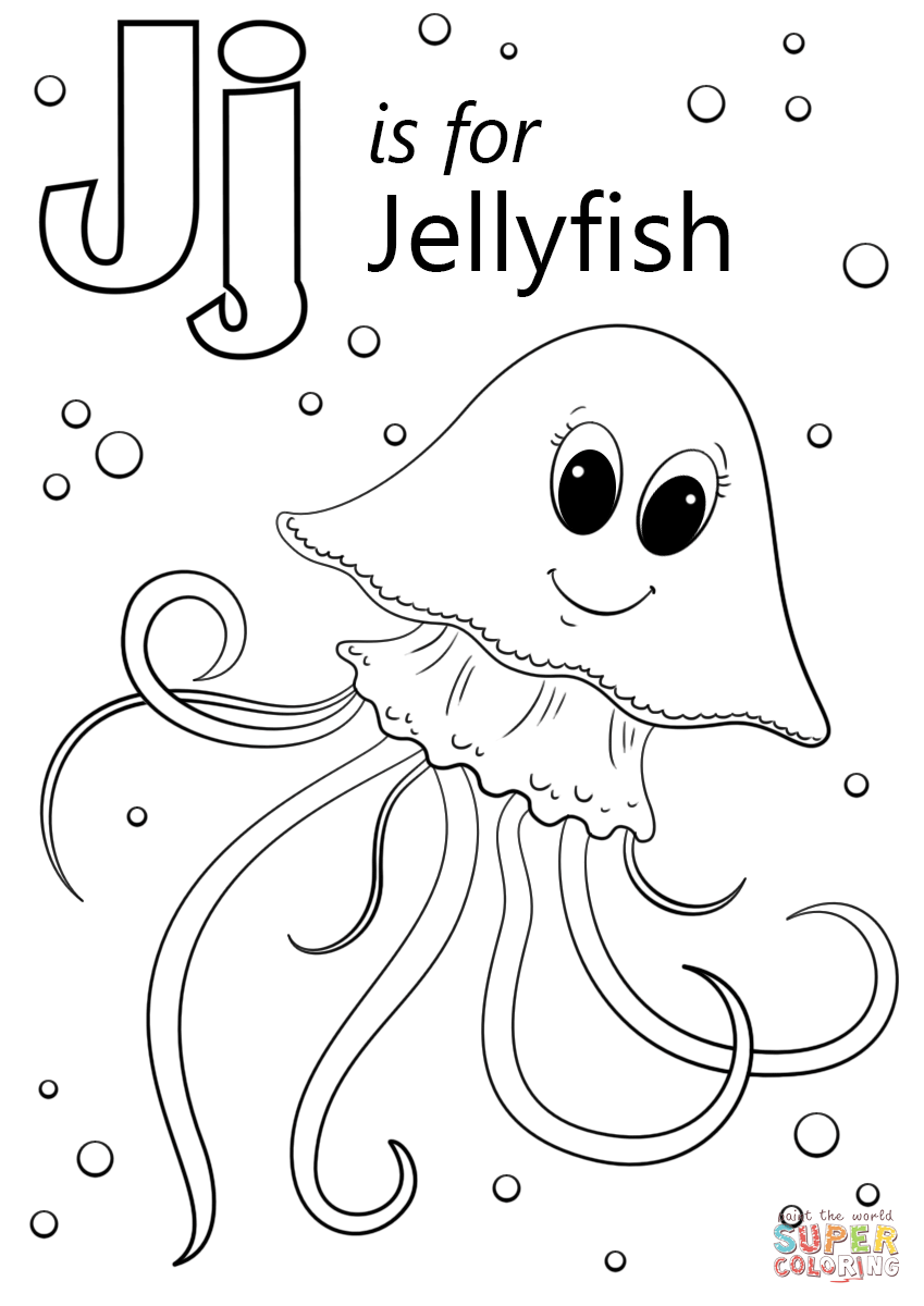 Jellyfish coloring #9, Download drawings
