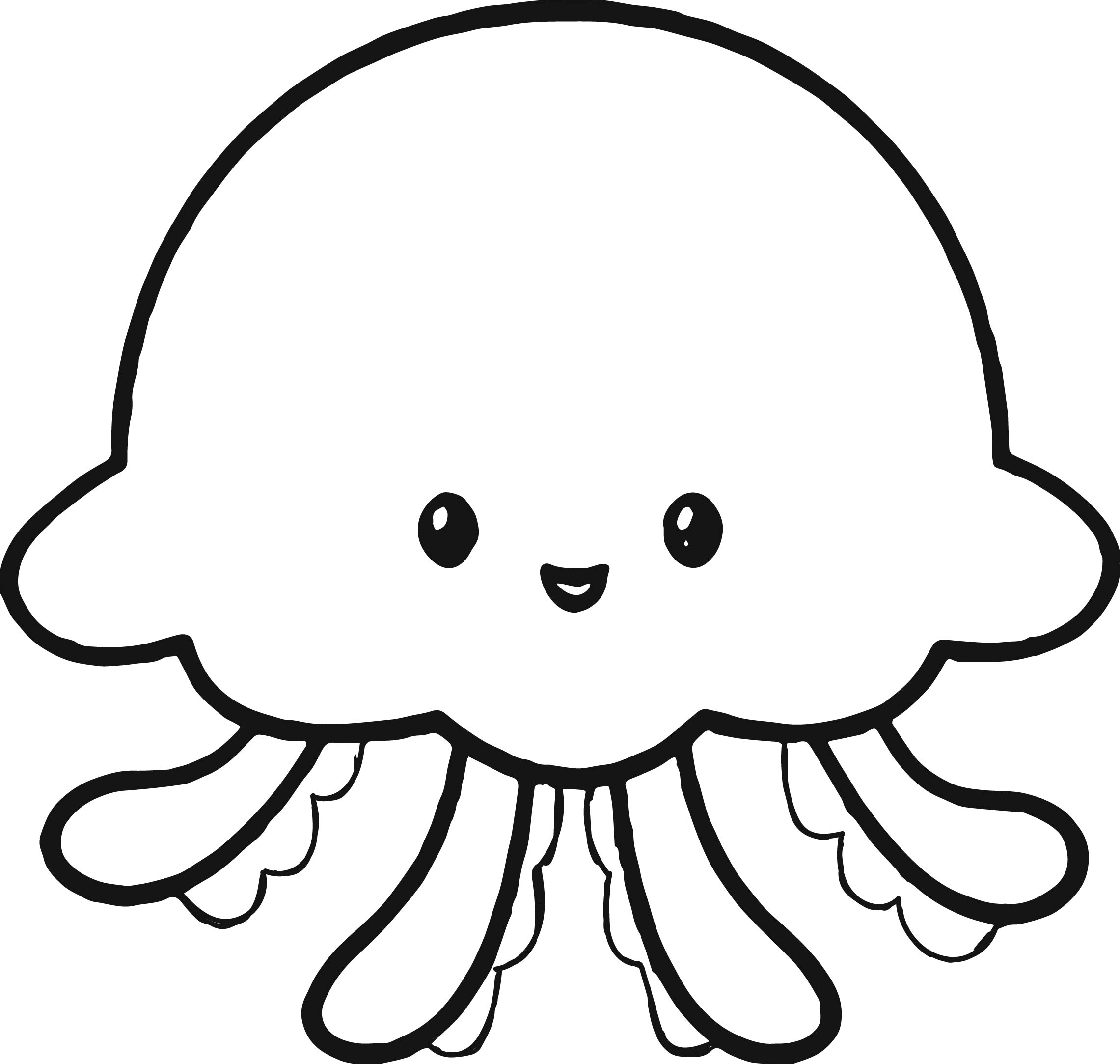 Jellyfish coloring #1, Download drawings
