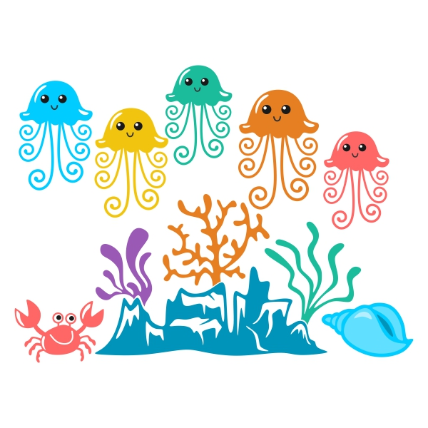 Jellyfish svg #125, Download drawings