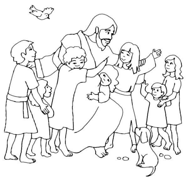 Jesus coloring #12, Download drawings