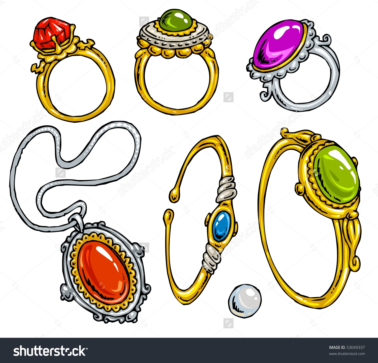 Jewelry clipart #6, Download drawings