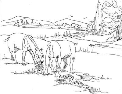 John Day Oregon coloring #19, Download drawings
