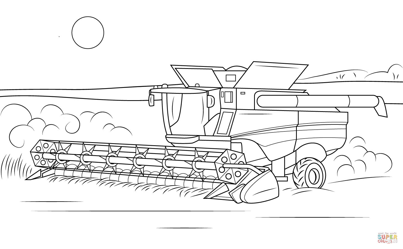 John Deere coloring #19, Download drawings
