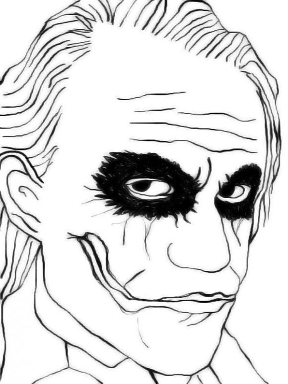 Joker coloring #5, Download drawings