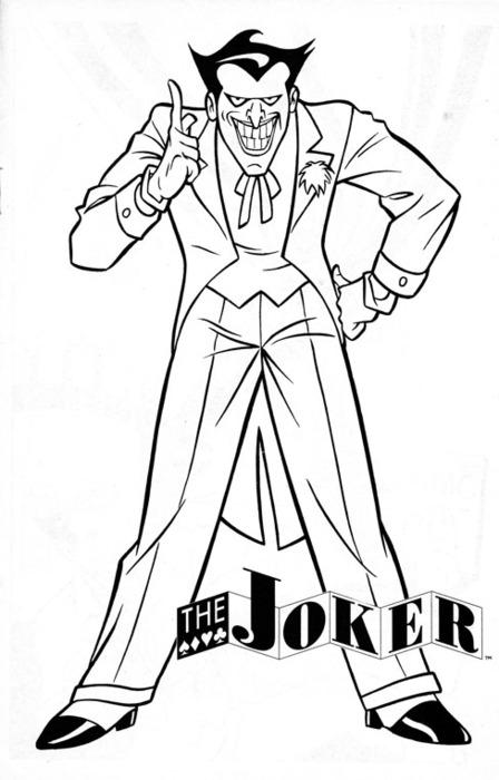 Joker coloring #19, Download drawings