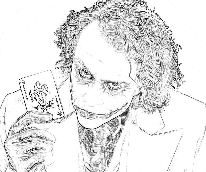 Joker coloring #13, Download drawings