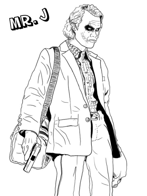 Joker coloring #2, Download drawings