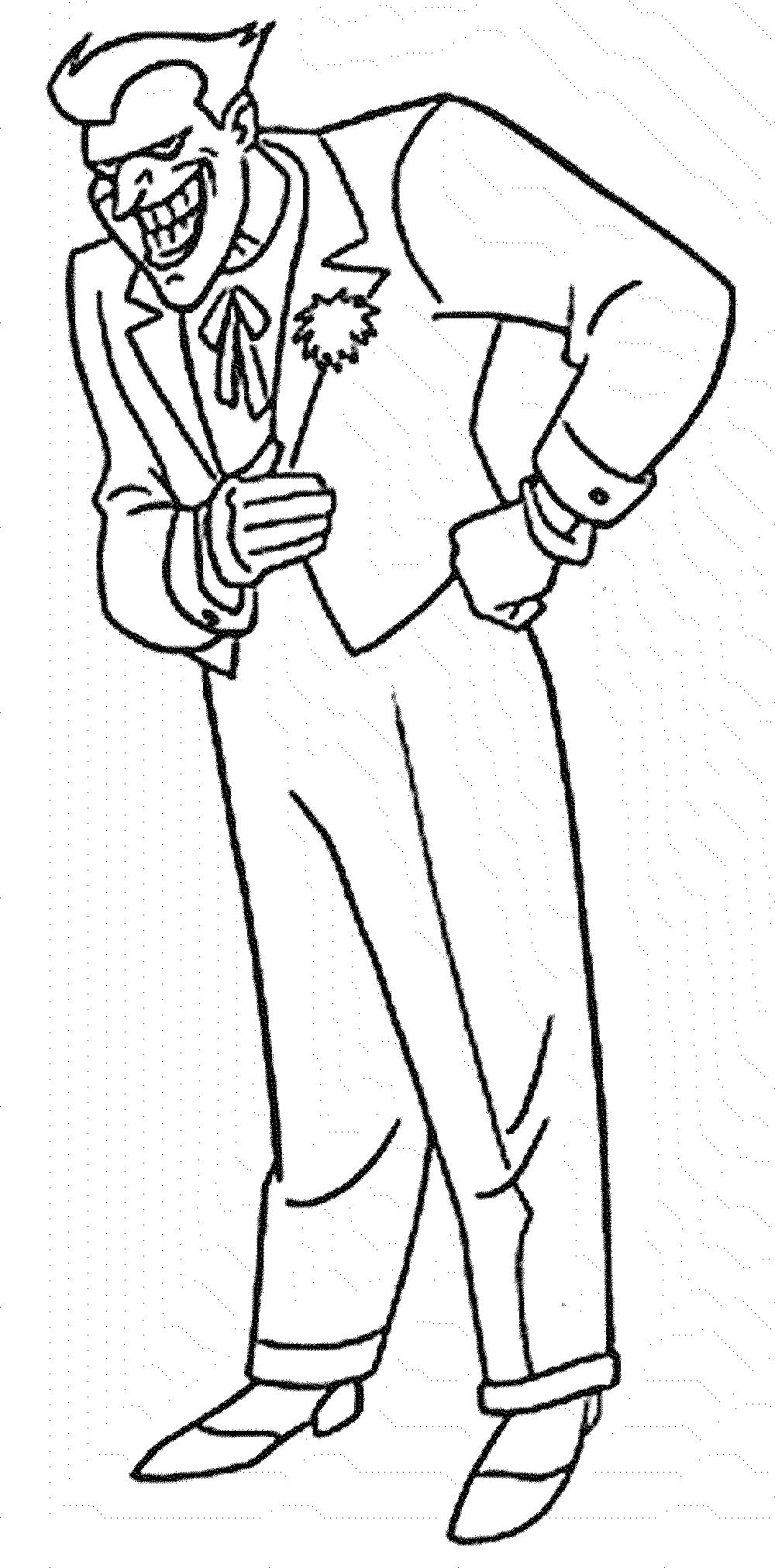 Joker coloring #16, Download drawings