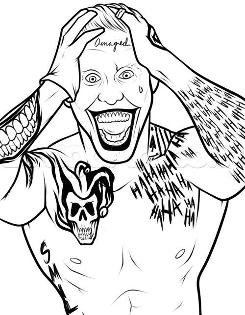 Joker coloring #14, Download drawings