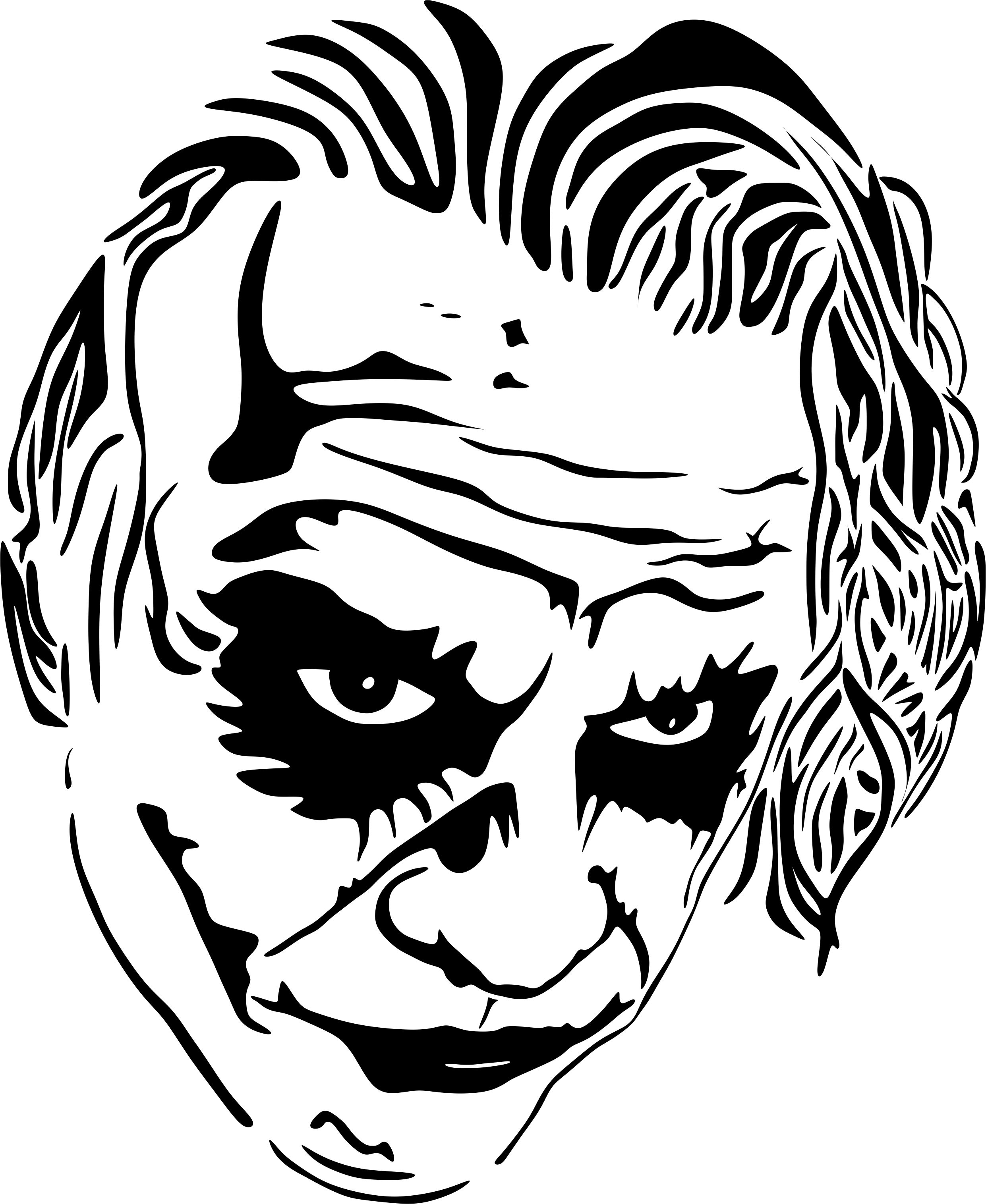 Joker svg #12, Download drawings