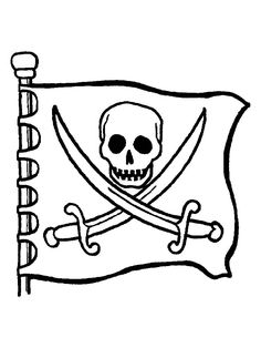 Jolly Roger coloring #12, Download drawings