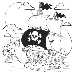 Jolly Roger coloring #4, Download drawings