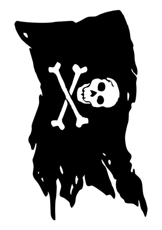 Jolly Roger coloring #6, Download drawings
