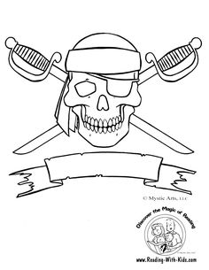 Jolly Roger coloring #1, Download drawings