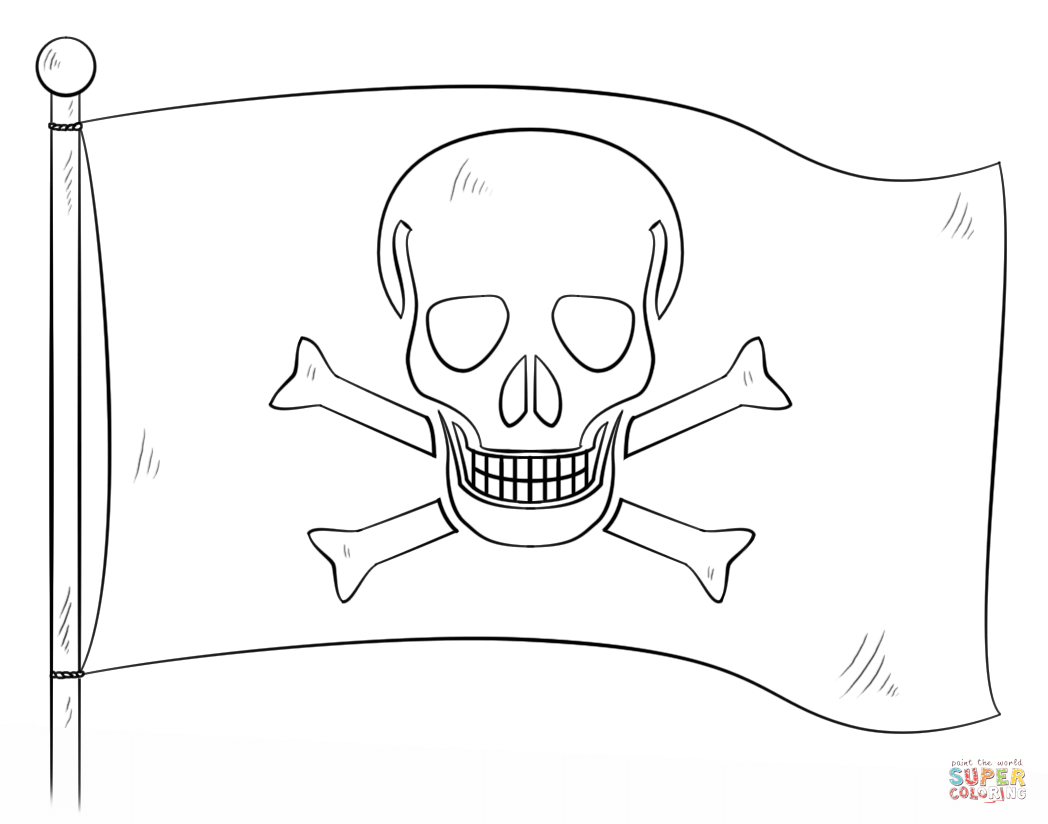 Jolly Roger coloring #15, Download drawings