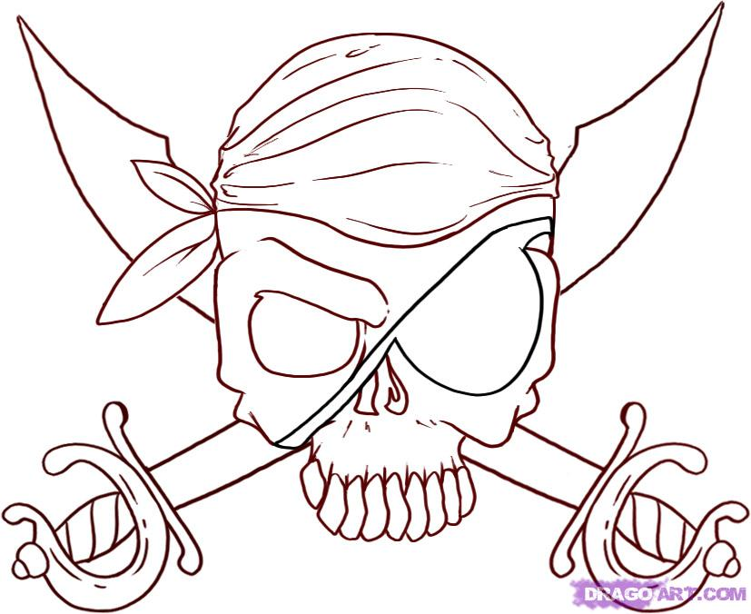 Jolly Roger coloring #8, Download drawings