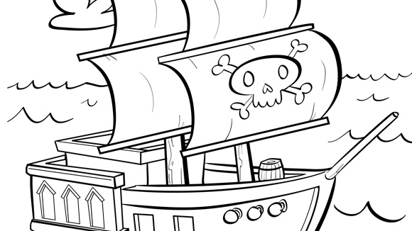 Jolly Roger coloring #10, Download drawings