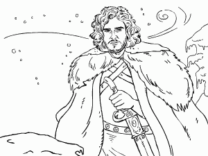Jon Snow coloring #1, Download drawings