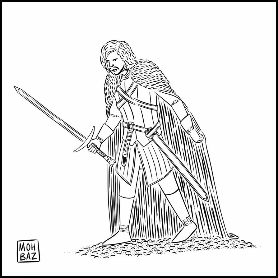 Jon Snow coloring #16, Download drawings
