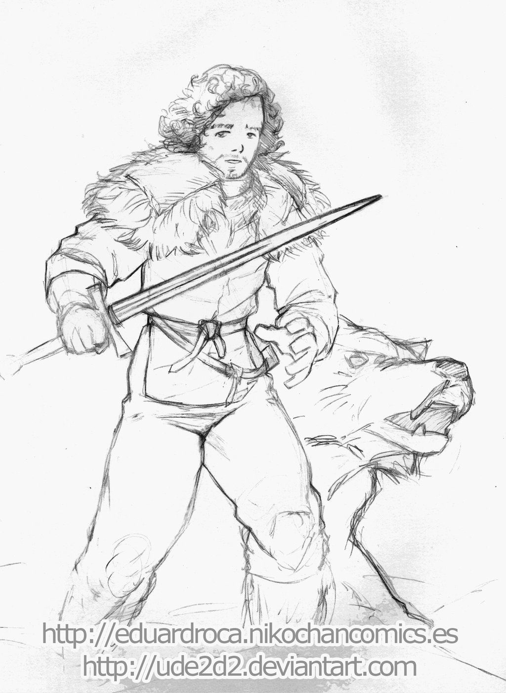 Jon Snow coloring #13, Download drawings