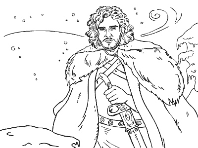 Jon Snow coloring #3, Download drawings