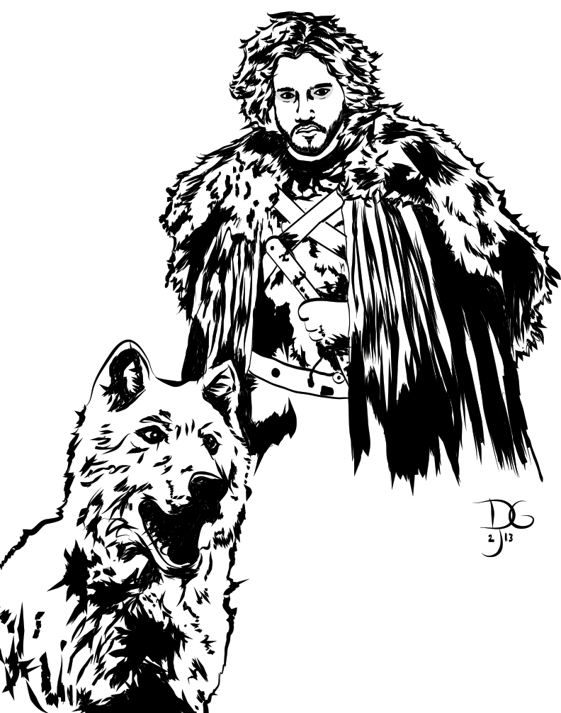 Jon Snow coloring #5, Download drawings