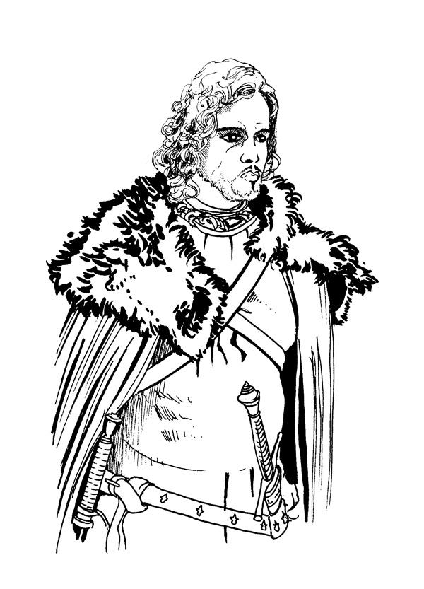 Jon Snow coloring #12, Download drawings