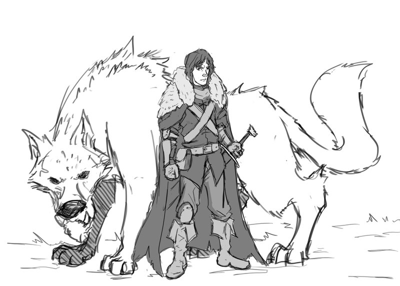 Jon Snow coloring #9, Download drawings