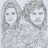 Jon Snow coloring #4, Download drawings