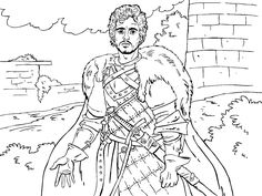 Jon Snow coloring #6, Download drawings