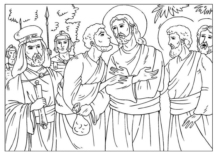 Judas coloring #2, Download drawings