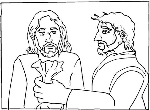 Judas coloring #4, Download drawings
