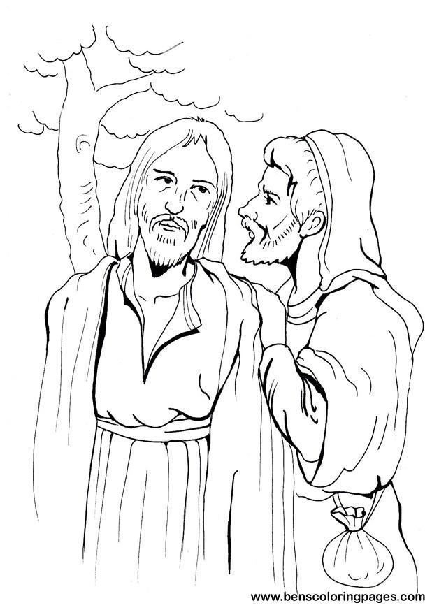 Judas coloring #19, Download drawings