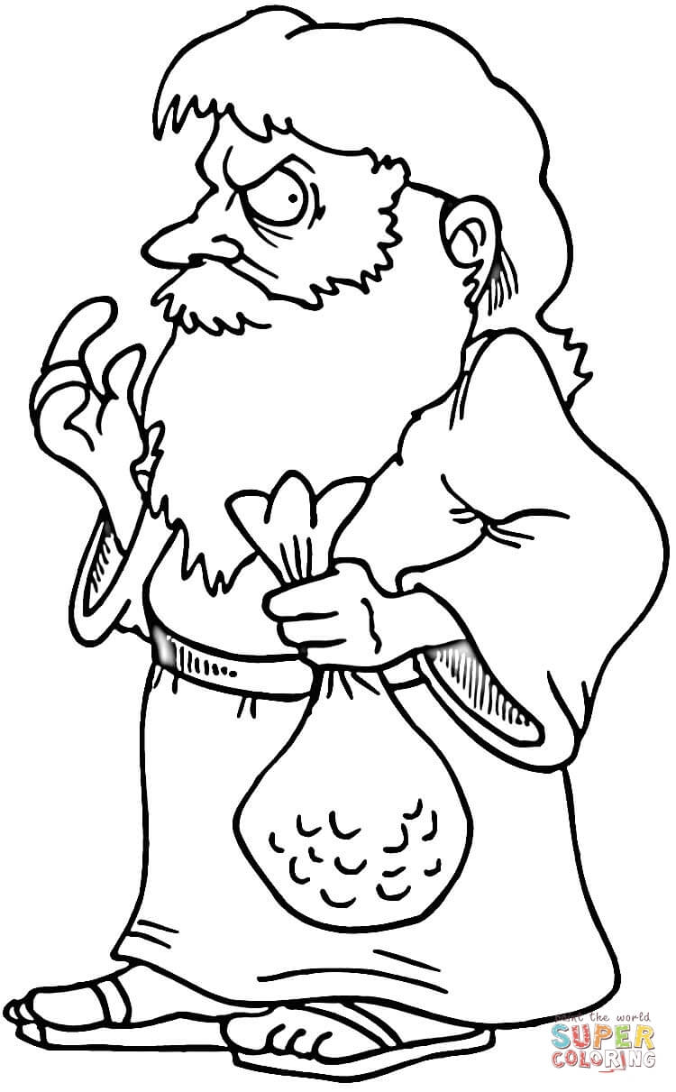 Judas coloring #16, Download drawings