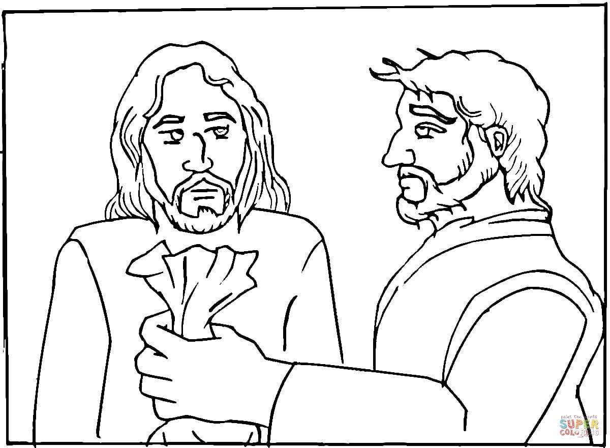Judas coloring #12, Download drawings