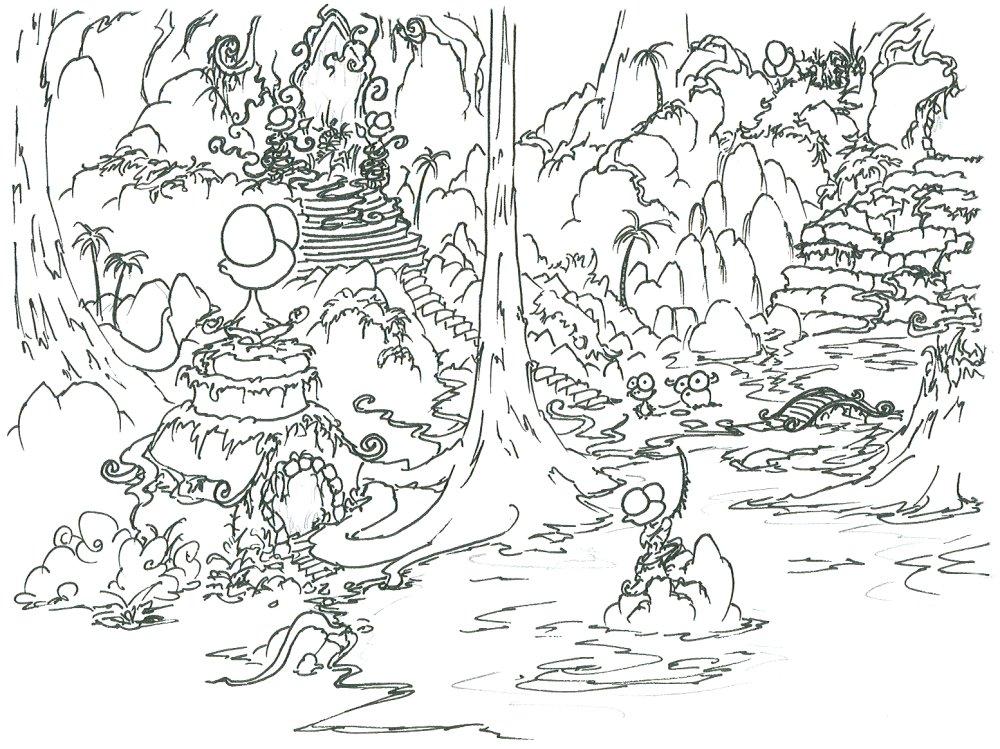 Jungle coloring #7, Download drawings