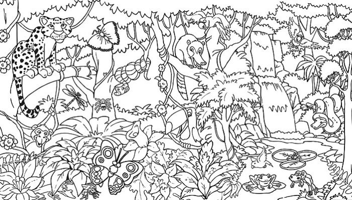 Jungle coloring #4, Download drawings