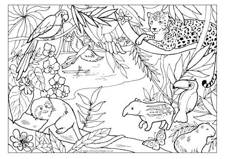 Jungle coloring #8, Download drawings