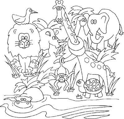 Jungle coloring #14, Download drawings