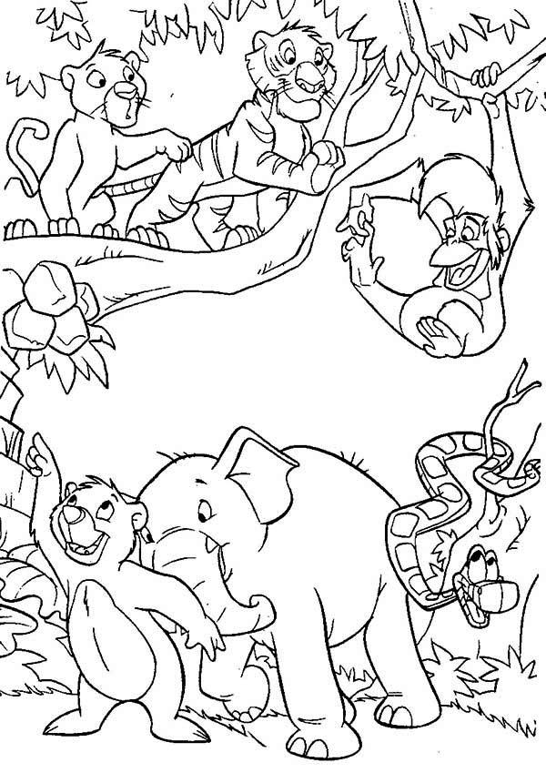 Jungle coloring #15, Download drawings