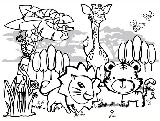 Jungle coloring #5, Download drawings
