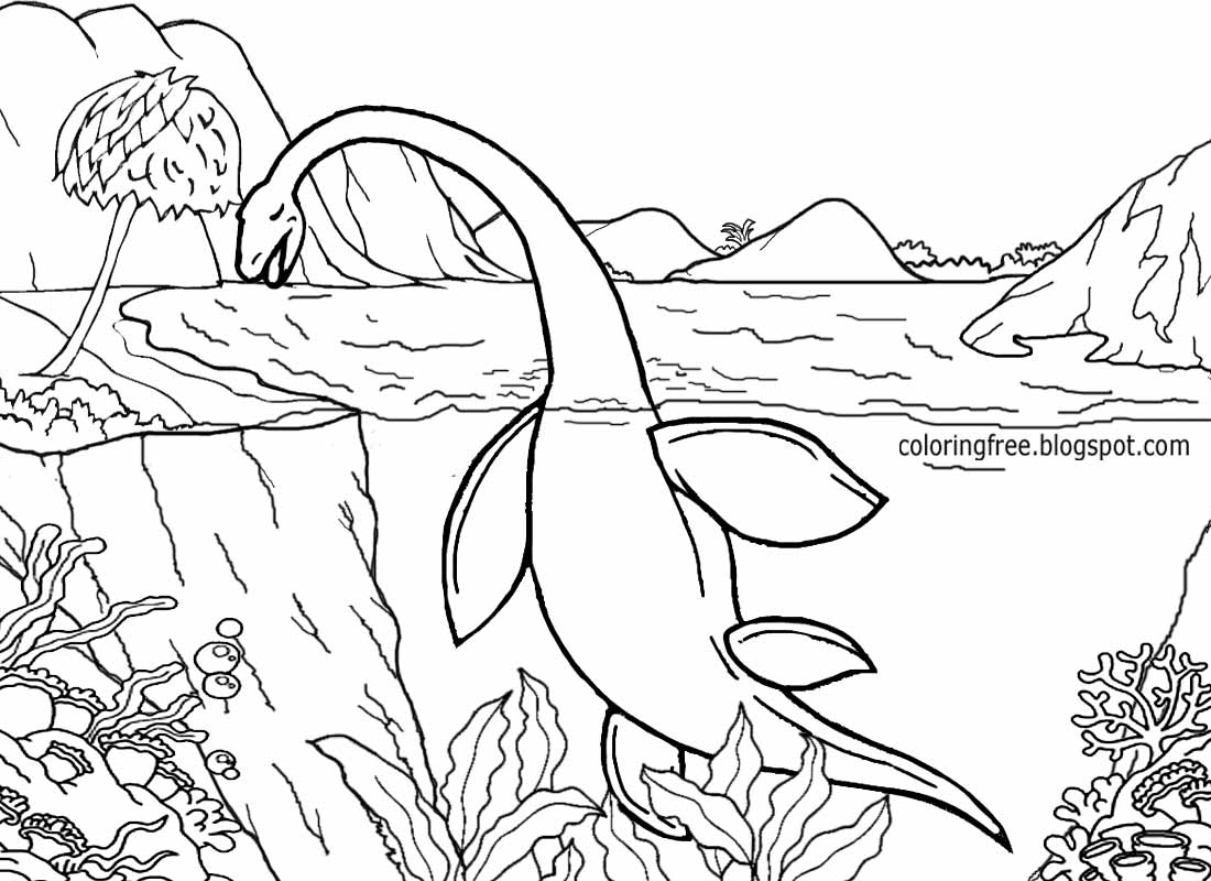 Jurassic Coast coloring #13, Download drawings